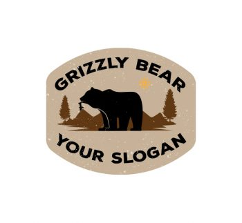 Simple Grizzly Bear Logo & Business Card
