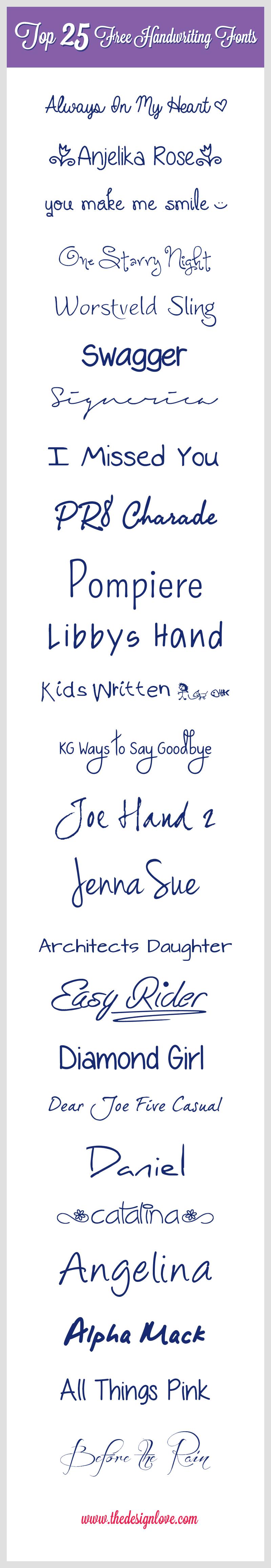 cool fonts 25 free handwriting fonts for designers