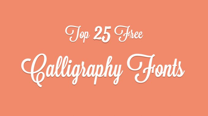 Top 15 free wedding fonts to design great invitation card Cool caligraphy fonts