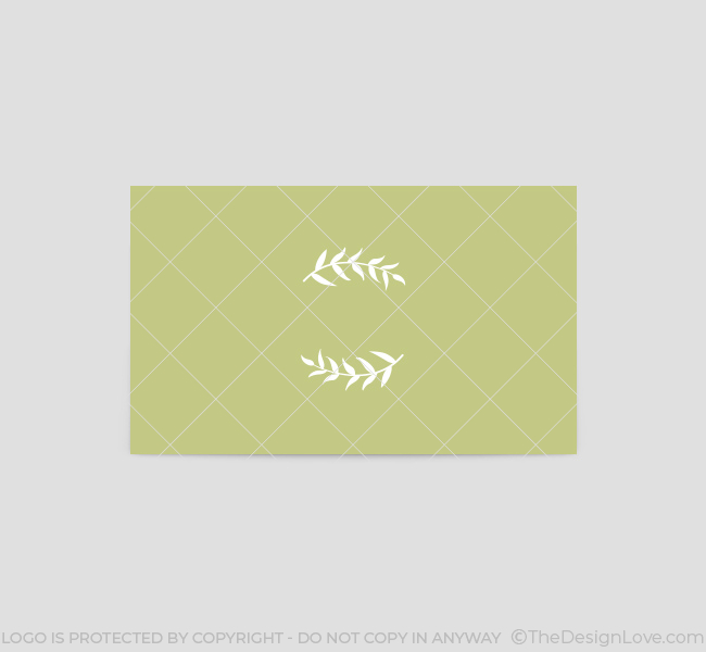 Green wedding logo business card template the design love green wedding business card template back flashek Choice Image
