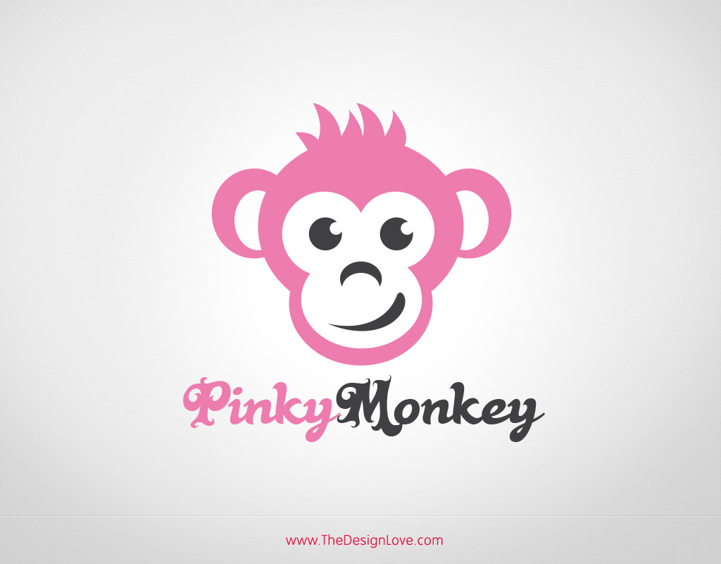 Free vector pinky monkey logo The designlover