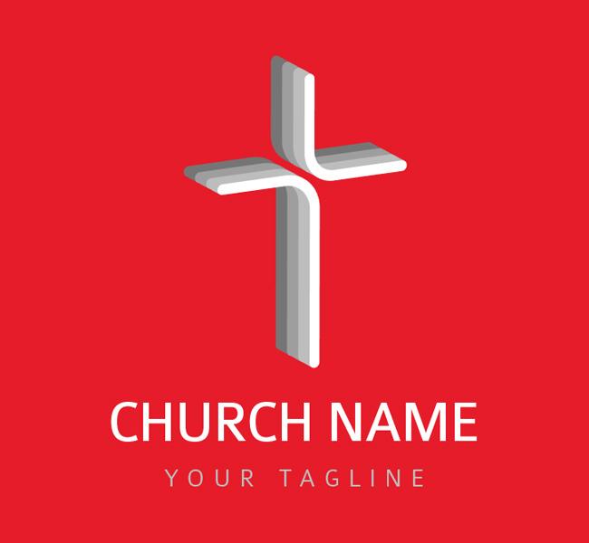 002-Church-Cross-Logo-Template-01-B