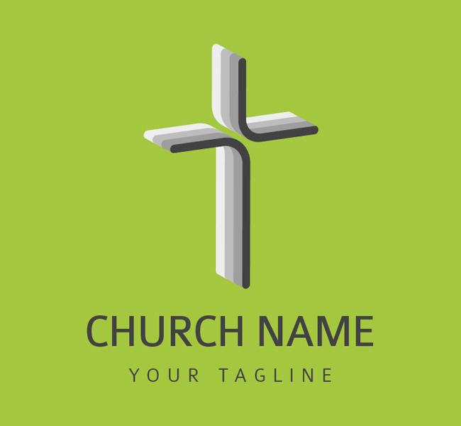 002-Church-Cross-Logo-Template-01-W