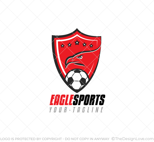 soccer eagle logo business card template the design love