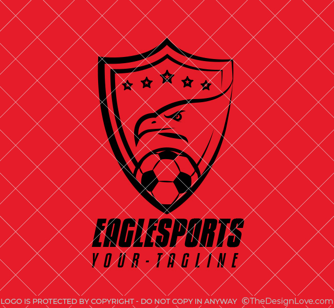 003-Soccer-Logo-with-Eagle-Template-B