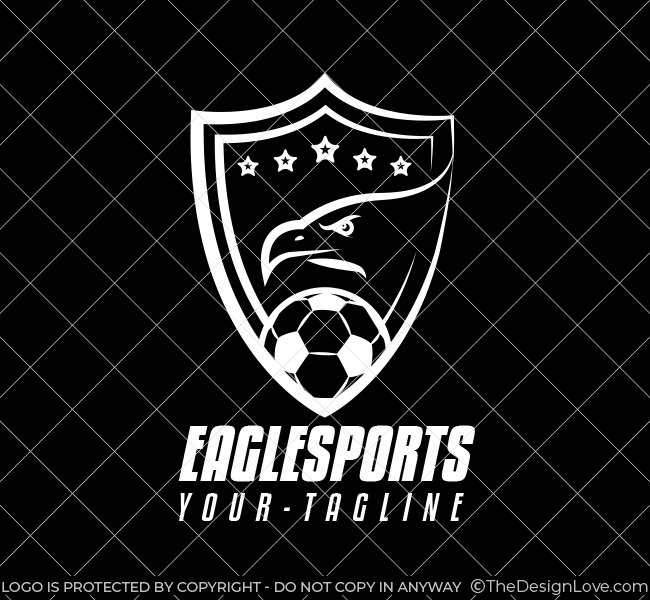 003 Soccer Logo With Eagle Template W