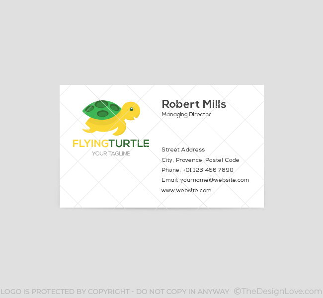 004-Flying-Turtle-Logo-Business-Card-Template-Front