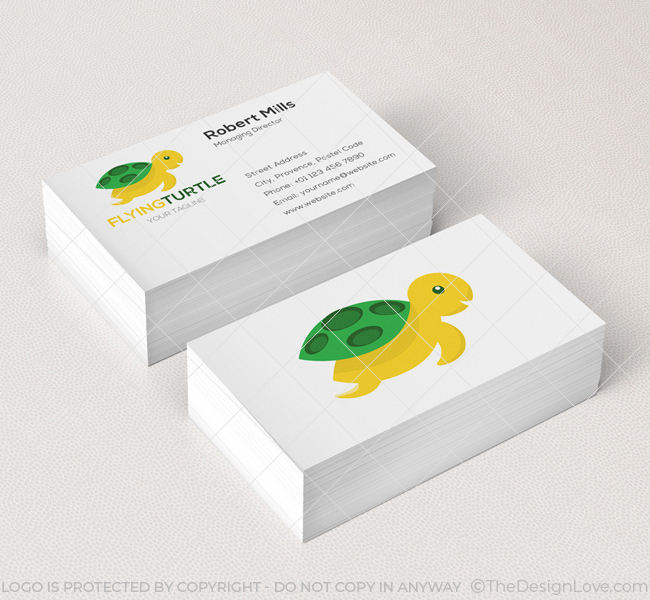 004-Flying-Turtle-Logo-Business-Card-Template