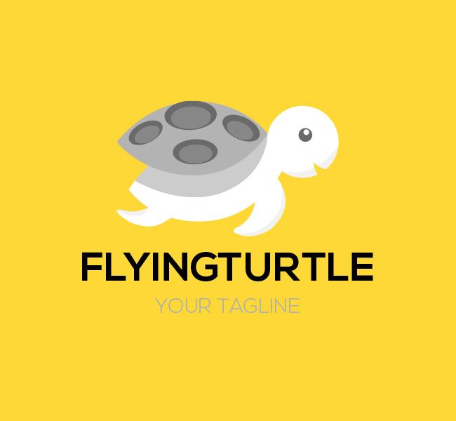 004-Flying-Turtle-Logo-Template-B