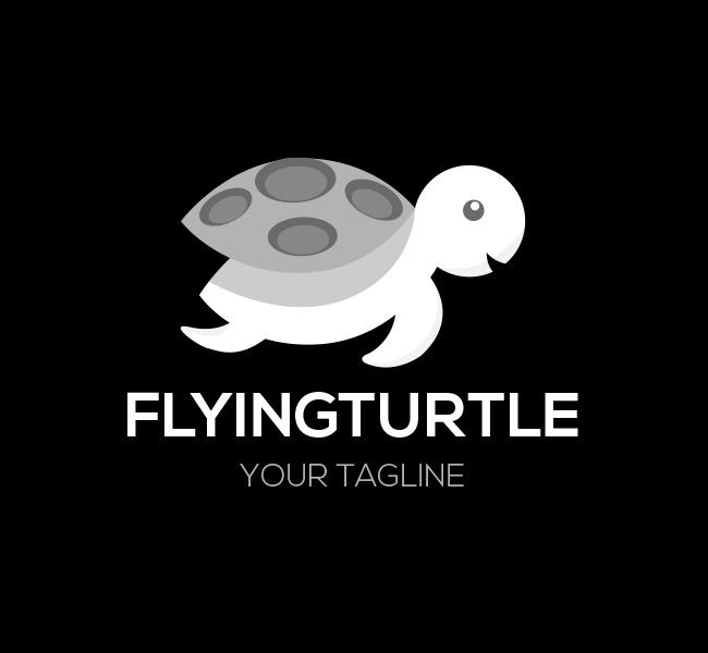 004-Flying-Turtle-Logo-Template-W