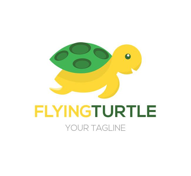 Flying Turtle Logo & Bcard Template - The Design Love