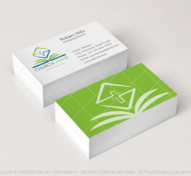 Bible logo business card template the design love 006 church logo with bible business card template colourmoves
