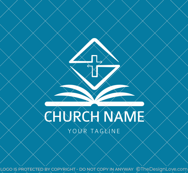 006-Church-Logo-with-Bible-Template-W-03