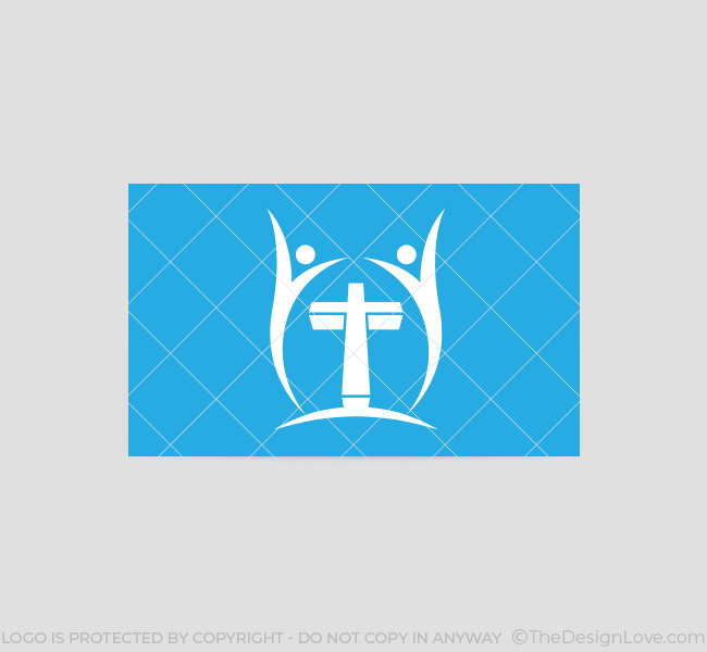 006-People-Cross-Logo-with-Cross-Business-Card-Template-03-Back