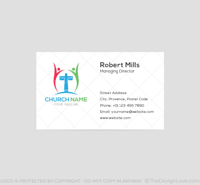 006-People-Cross-Logo-with-Cross-Business-Card-Template-03-Front
