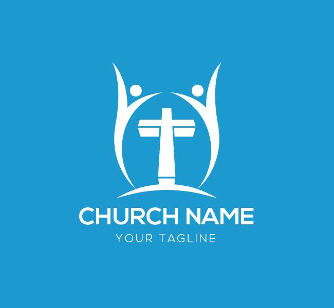 006-People-Cross-Logo-with-Cross-Template-W-03