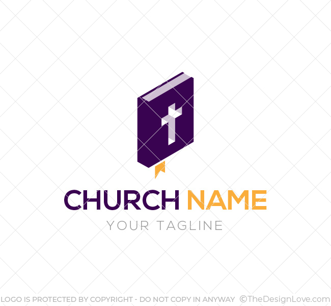 009 church logo with bible template 06