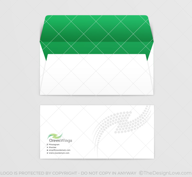 011-Green-Wings-Logo-Template-Envelope