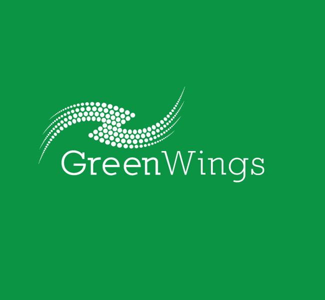 011-Green-Wings-Logo-Template-W
