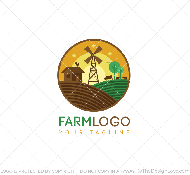 farm logo bcard template the design love