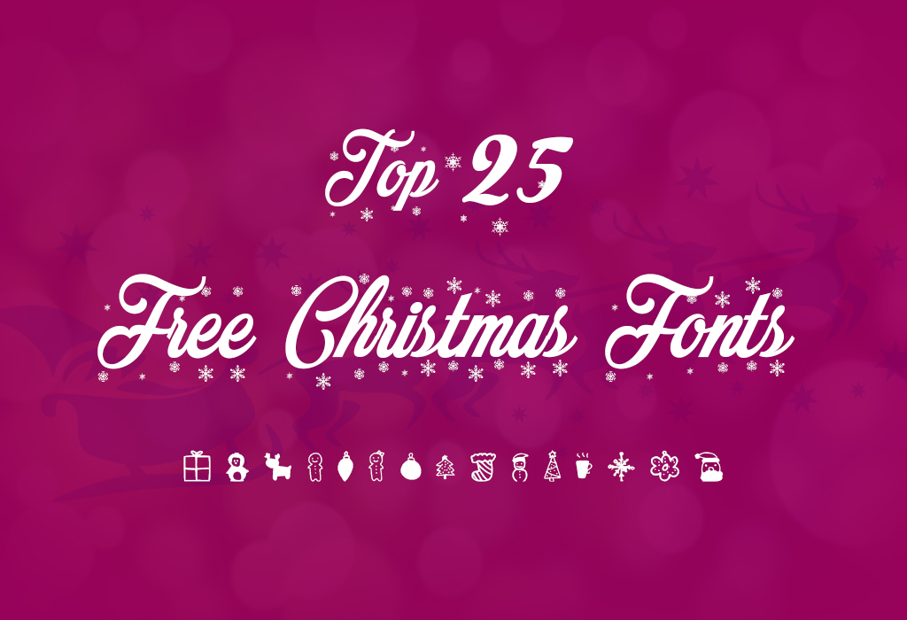 top 25 free christmas fonts to design your gift cards - Christmas Fonts Free