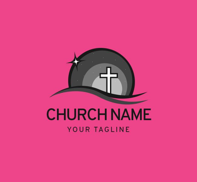 006-Church-Logo-with-Cross-Template-B-07