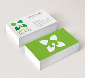 Green Home Design Logo Template 015 Green Home Design Logo Business Card  Template
