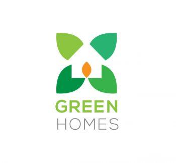 Green Home Design Logo Template