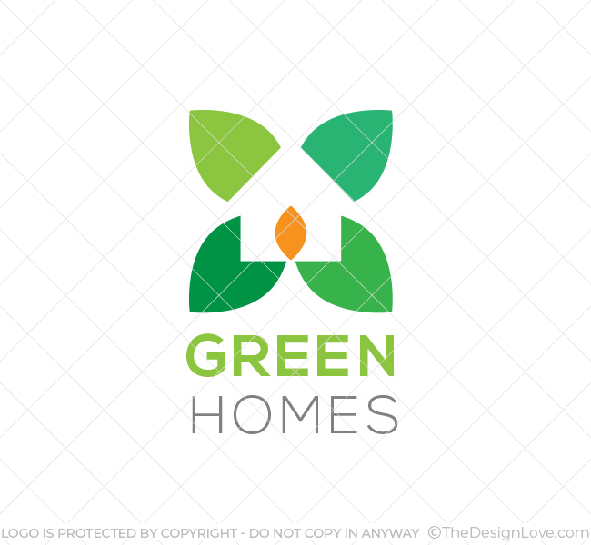 Green home design logo template the design love for Household design logo