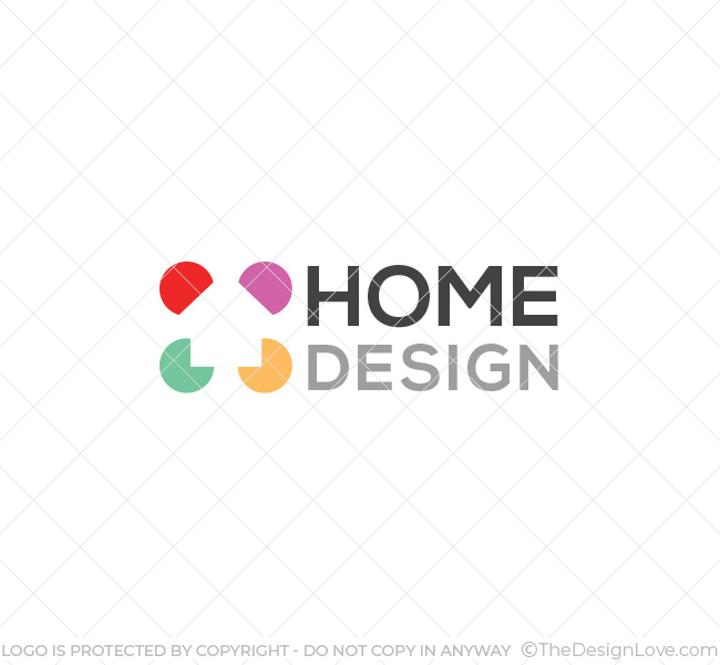 Home design logo business card template the design love The designlover