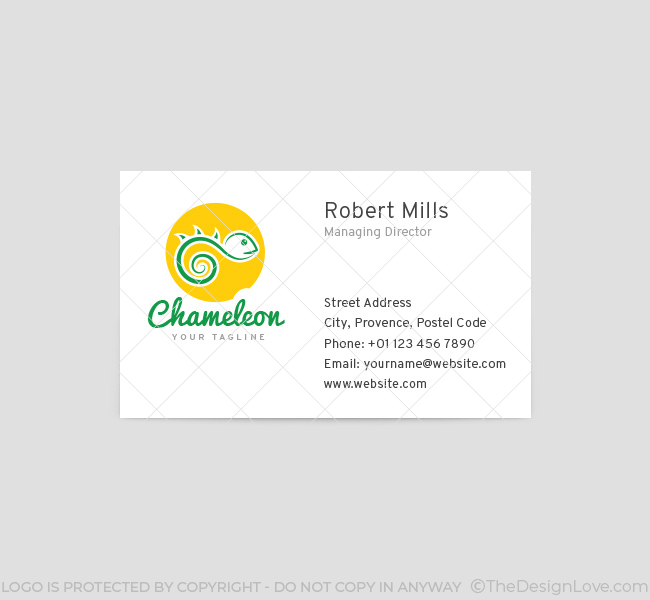 019-Chameleon-Logo&-Business-Card-Template-Front