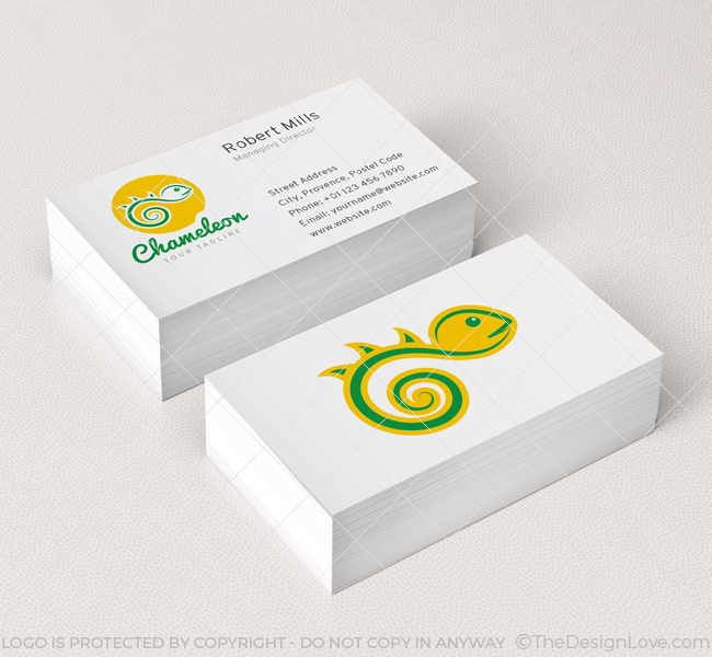 019-Chameleon-Logo-&-Business-Card-Template