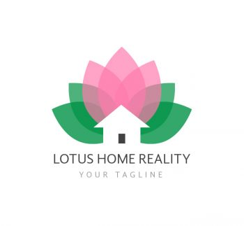 Lotus Homes Logo & Business Card Template