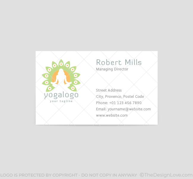 Yoga logo business card template the design love 024 yoga logo business card template front stopboris Image collections
