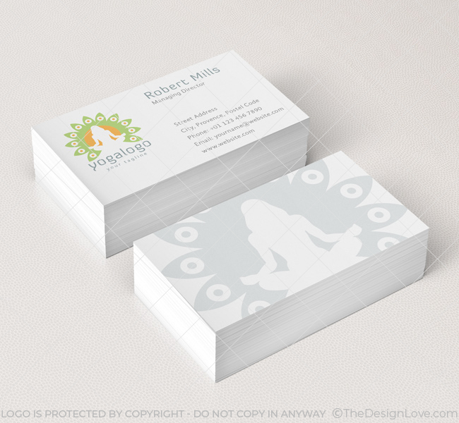 Yoga logo business card template the design love 024 yoga logo business card template reheart Images