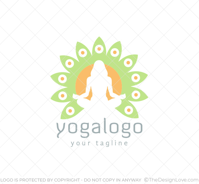 Yoga logo business card template the design love 024 yoga logo template wajeb Image collections