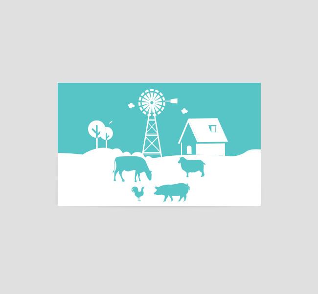 Organic Farm Logo & Business Card Template - The Design Love