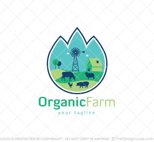 organic farm logo business card template the design love
