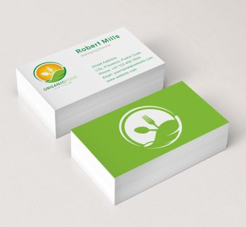 Organic-Food-Logo-&-Business-Card-Template