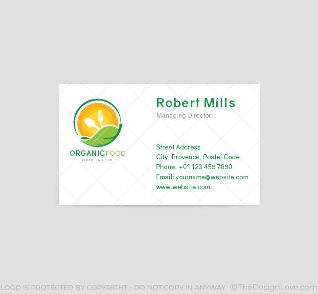 026-Organic-Food-Logo-&-Business-Card-Template-Front