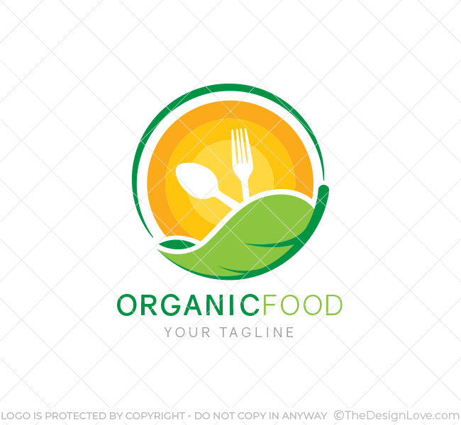 Organic food logo business card template the design love organic food logo template flashek Images