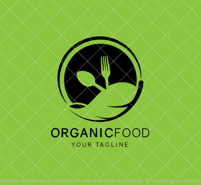 Organic Food Logo & Business Card Template - The Design Love