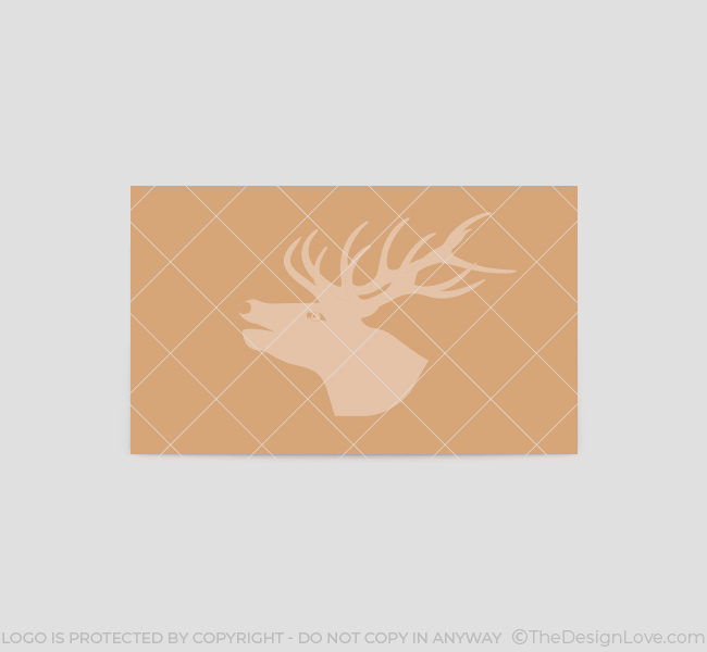 027-Stag-Head-Logo-&-Business-Card-Template-Back