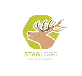 Stag Head Logo & Business Card Template