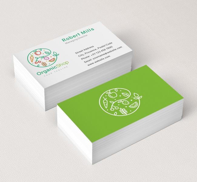 Organic shop logo business card template the design love 028 organic shop logo business card template colourmoves