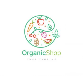 Organic Shop Logo & Business Card Template