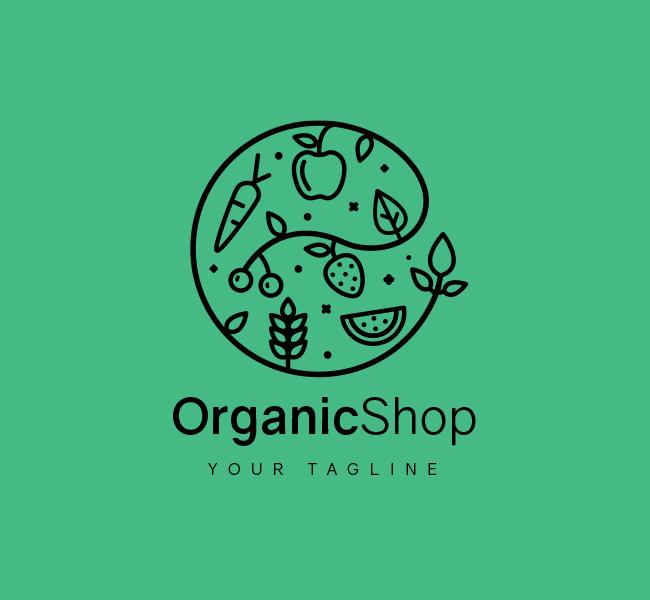 028-Organic-Shop-Logo-Template_B