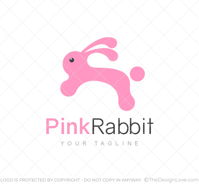 Pink-Rabbit-Logo-Template