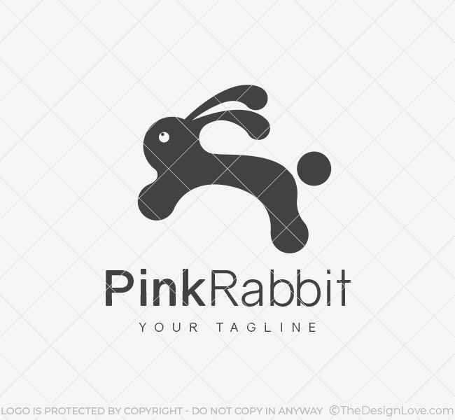 029-Pink-Rabbit-Logo-Template_B