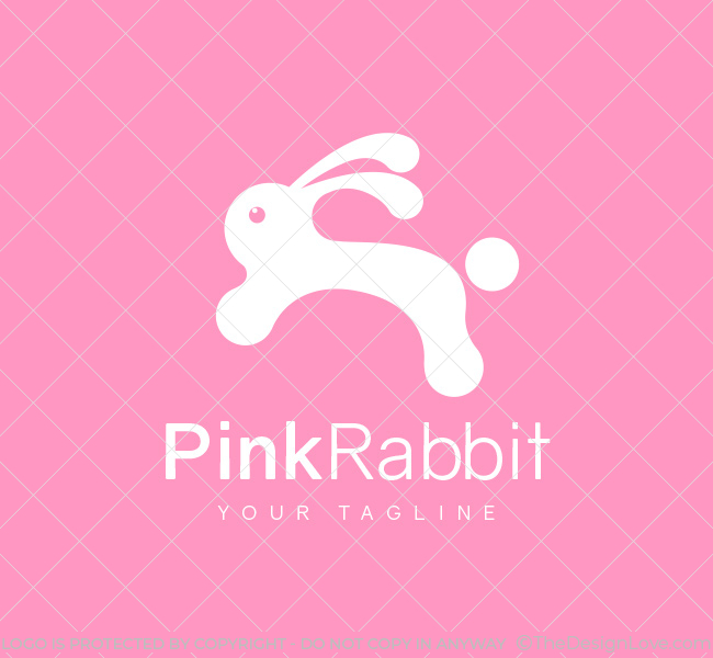 029-Pink-Rabbit-Logo--Template_W